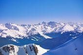 pic of breathtaking  - Breathtaking Caucasus mountains view during winter daytime in Sochi ski resort Krasnaya polyana - JPG