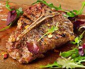 picture of porterhouse steak  - T - JPG