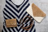 pic of outfits  - Overhead of essentials vintage woman - JPG