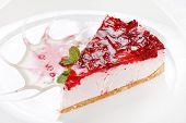 pic of cheesecake  - cherry cheesecake - JPG