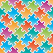 picture of jigsaw  - Colorful jigsaw puzzles - JPG