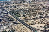 stock photo of emirates  - Aerial view of Dubai city - JPG