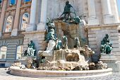 stock photo of royal palace  - Matthias Fountain in the northwest courtyard of the Royal Palace  - JPG