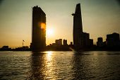 picture of breathtaking  - Panorama of Ho Chi Minh viewed over Saigon river - JPG