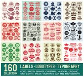 stock photo of arrow  - 160 Labels and Logotypes design set - JPG