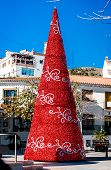 picture of southern  - Christmas tree outdoors - JPG