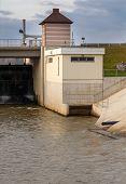 stock photo of dam  - Dam on the river - JPG