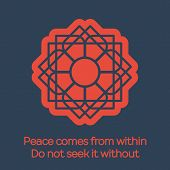 stock photo of shogun  - Asian religious geometrical ornament - JPG