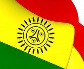 stock photo of greater antilles  - Flag of Jatibonicu Taino Tribal Nation of Boriken Puerto Rico - JPG