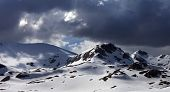 pic of anti  - Panoramic view of snow mountains before storm - JPG