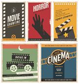 Retro cinema posters and flyers collection poster