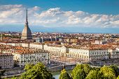 View Of Turin Centre With Mole Antonelliana-italy poster