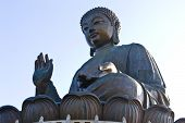foto of lantau island  - No trip to Hong Kong would be complete without a visit to the Giant Buddha which sits serenely atop Ngong Ping plateau amid the spectacular mountain scenery of Lantau Island.  The eyes, lips, incline of the head and even the right hand (raised to delive - JPG