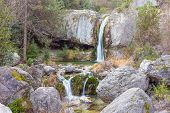 Постер, плакат: Ourlia waterfalls near Dion village Olympus mountain Greece