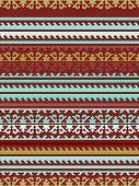 Постер, плакат: Seamless Kyrgyz national ornament pattern