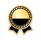 Award Ribbon Gold poster
