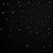 Gold Light Stars On Black Background poster