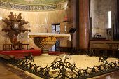 pic of gethsemane  - Interior of The Church of All Nations or Basilica of the Agony - JPG