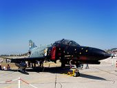 stock photo of f4  - Phantom F4 fighter jet seen at an airshow - JPG