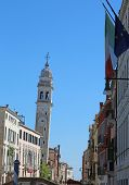 Church And With Bell Tower Called San Giorgio Dei Greci Also Cal poster