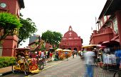 image of malacca  - Tourist activity in front Christ Church - JPG