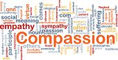 Background concept wordcloud illustration of compassion