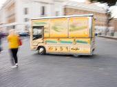 Ice Cream Van In Motion Blur poster