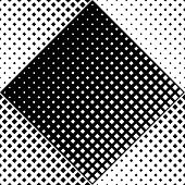 Seamless Black And White Geometrical Square Pattern Background - Abstract Monochrome Vector Design F poster