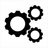 Gears Icon Isolated On White Background. Gears Icon In Trendy Design Style. Gears Vector Icon Modern poster