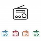 Radio Icon Isolated On White Background. Radio Icon In Trendy Design Style. Radio Vector Icon Modern poster