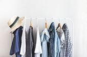 Clothes On Open Cloth Choosing Clothes Nothing To Wear poster
