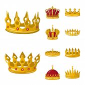 Bitmap Illustration Of Monarchy And Gold Symbol. Collection Of Monarchy And Heraldic Stock Bitmap Il poster