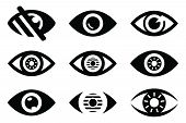 Set Of Eye Icon, Eye Icon Pack, Eye Icon Vector In Modern Flat Style For Web, Graphic And Mobile Des poster