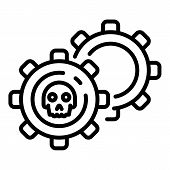 Malicious Mechanism Icon. Outline Malicious Mechanism Icon For Web Design Isolated On White Backgrou poster