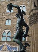 foto of perseus  - perseus sculpture at piazza della signoria - JPG