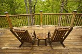 picture of gatlinburg  - Beautiful view of the Smoky Mountains from the deck of a cabin - JPG