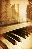 pic of broadway  - old historical new york background with broadway - JPG
