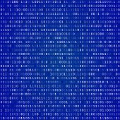picture of blue-screen-of-death  - Blue screen of death computer binary code  vector background - JPG