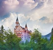 Neuschwanstein In The Morning Fog