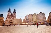 pic of bohemia  - Old Town Square in Prague on sunny day - JPG