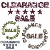 An image of a clearance sale message.