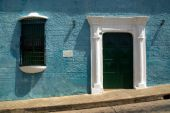image of bolivar  - Street in the unesco world heritage colonial town of Ciudad Bolivar Venezuela - JPG