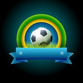 Vector soccer banner design. Elements are layered separately in vector file. Easy editable.