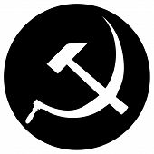 image of hammer sickle  - Hammer and Sickle vector icon on white - JPG