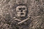 Skull And Crossbones On Grave