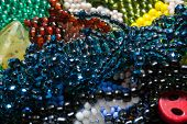 image of beads  - Handcrafted jewels constructed by various beads in studio  - JPG