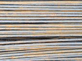 picture of reinforcing  - reinforce steel rod texture background - JPG