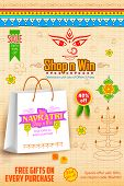stock photo of navratri  - illustration of colorful banners for Happy Navratri Offer promotions - JPG