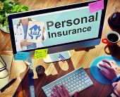 stock photo of personal safety  - Personal Insurance Safety Healthcare Protection Office Working Concept - JPG