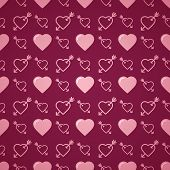 image of avow  - Lovely heart romantic pink pattern - JPG